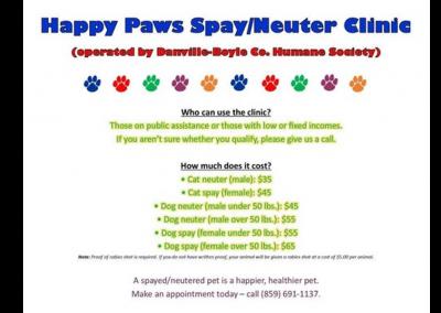 Happy Paws Spay/Neuter Clinic