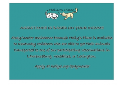 Holly's Place Spay/Neuter Assistance Program