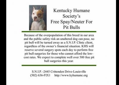 Kentucky Humane Society's Spay/Neuter Clinic for Pitbulls