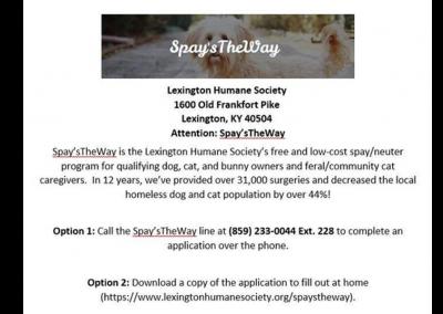 Lexington Humane Society Spay's the Way